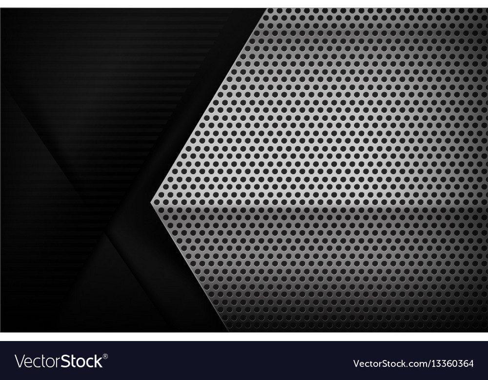 Chrome black and grey background texture