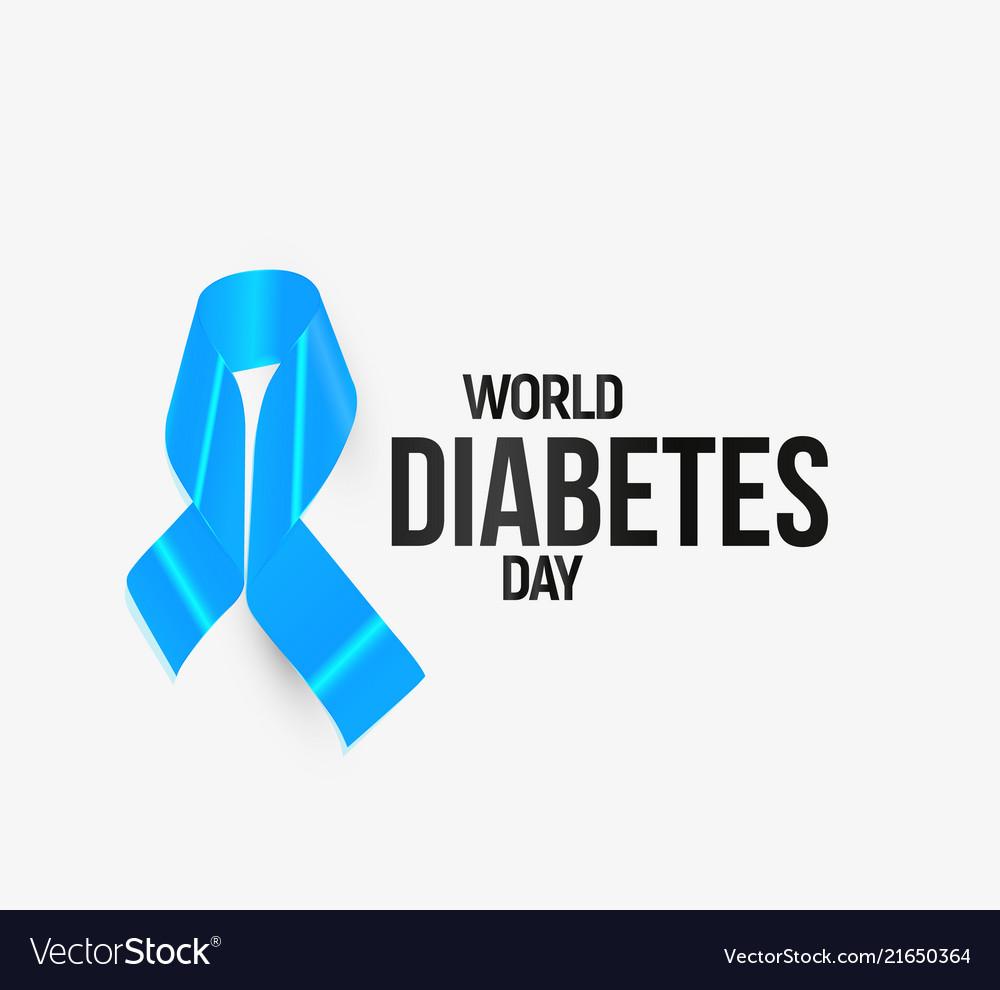 Diabetes Awareness Ribbon Blue Symbol Royalty Free Vector