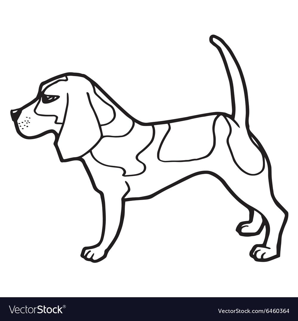 Dog coloring book Royalty Free Vector Image - VectorStock