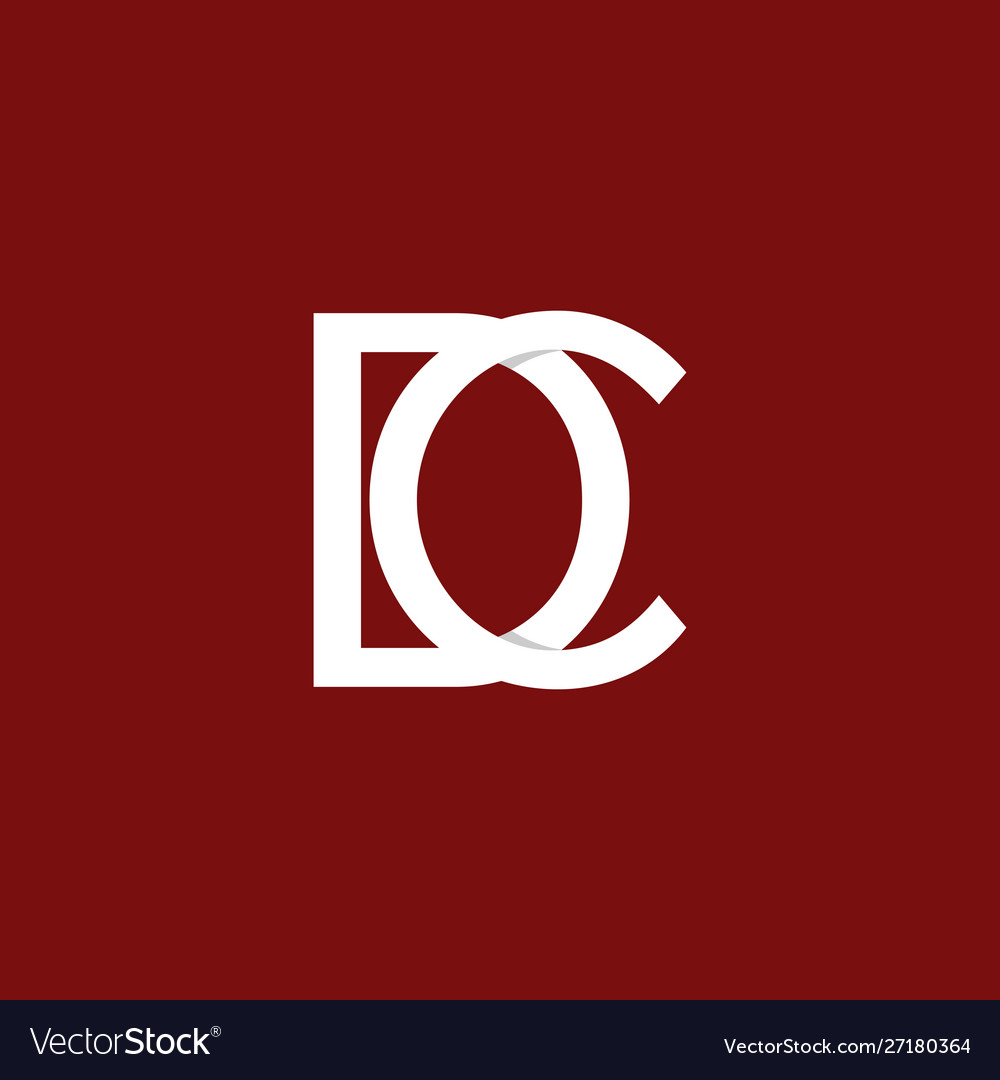 Letter dc outline business logo design