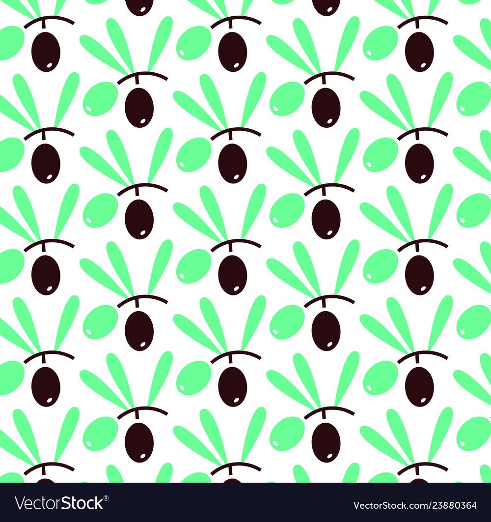 Olives seamless pattern flat modern stlyle
