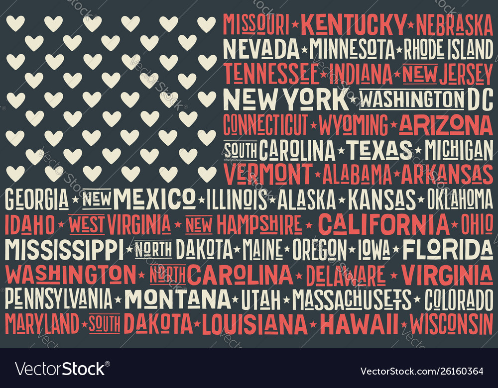 Poster united states america flag