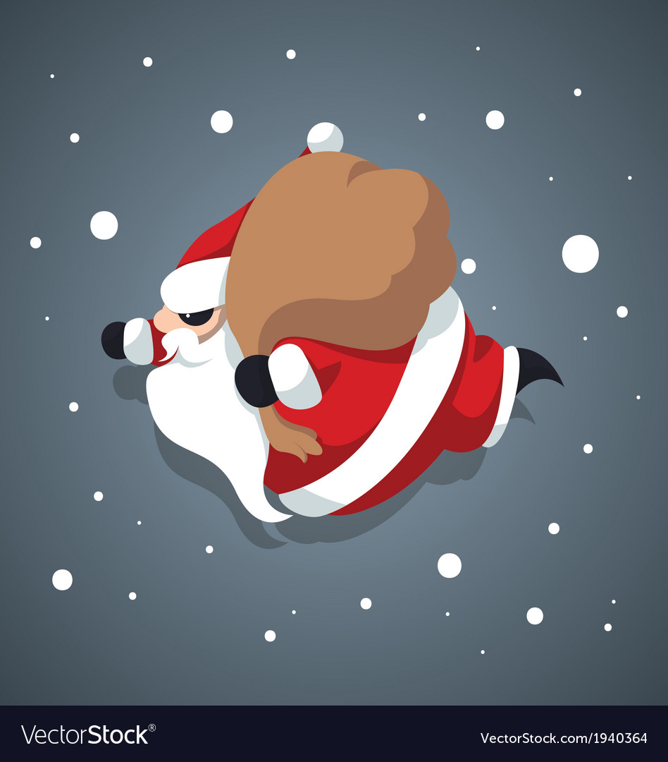 Santa-Claus -Merry-xmas Royalty Free Vector Image