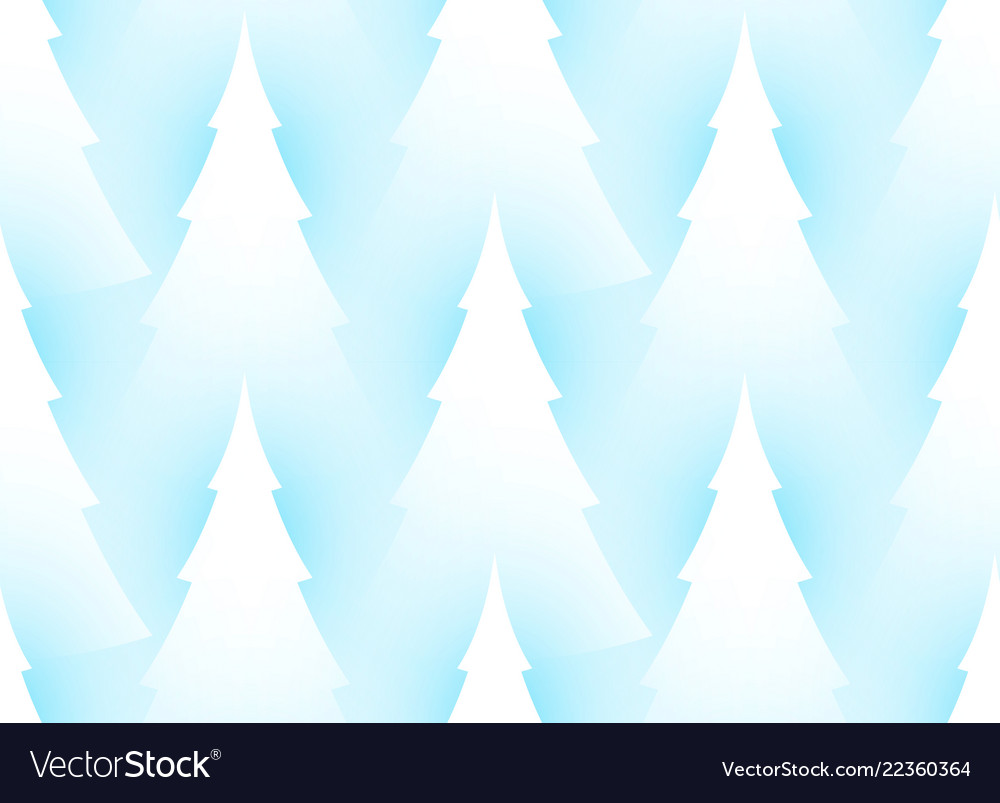 Winter seamless pattern with fir trees coniferous