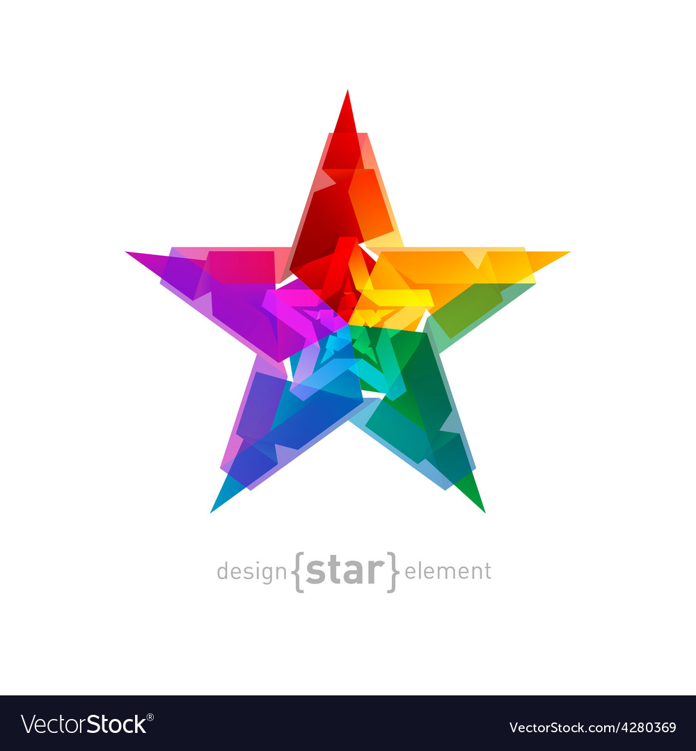 Abstract star Overlying star shapes on white vector image