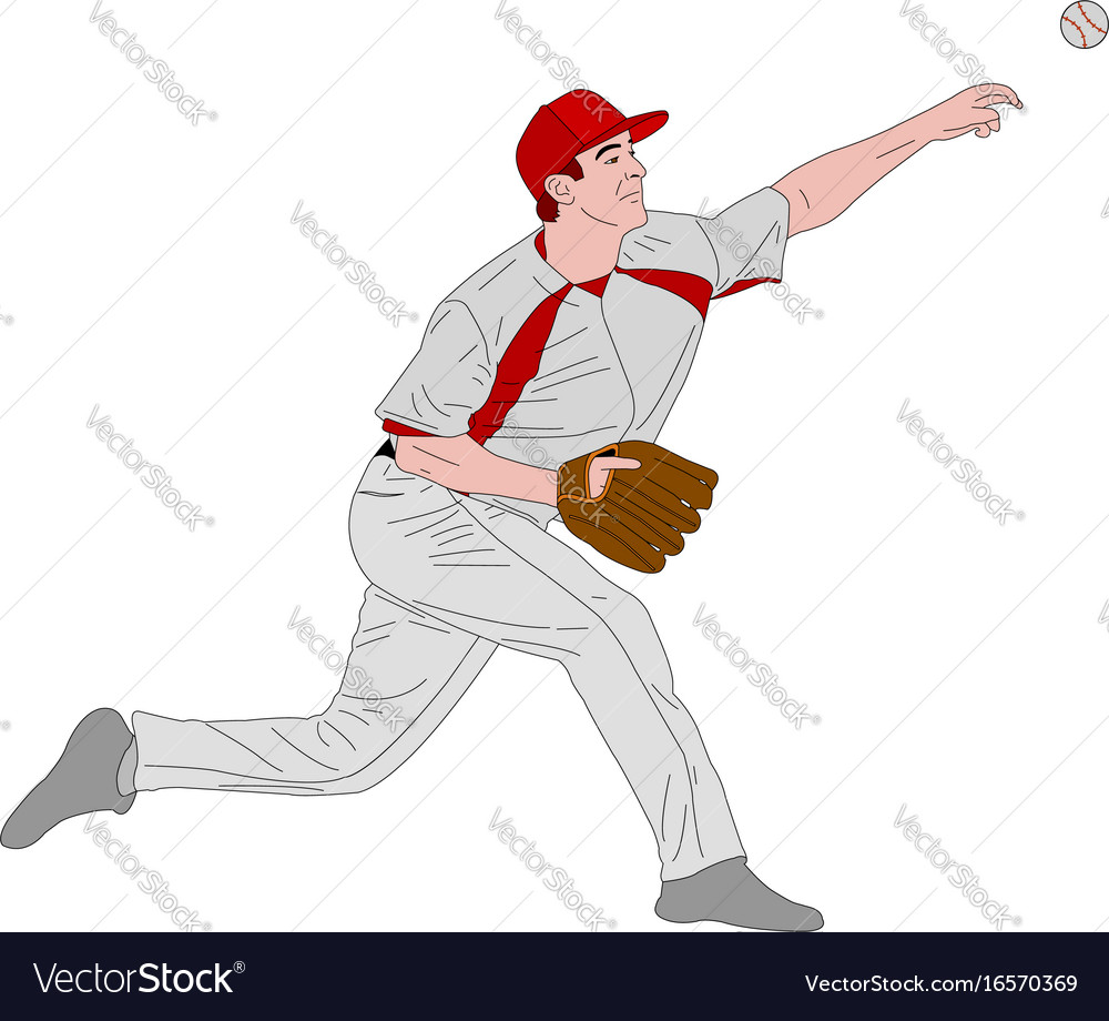 Baseball pitcher detailed