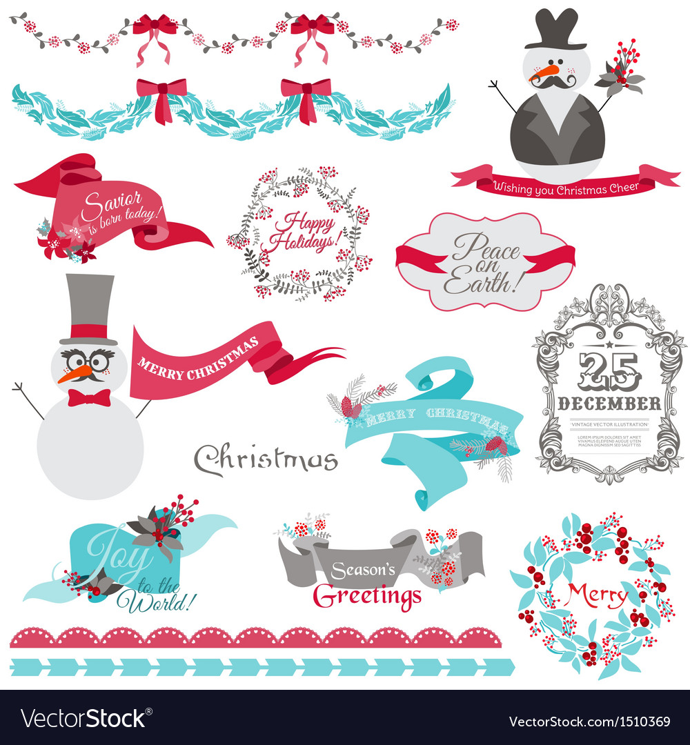 Christmas Snowman and New Year Theme