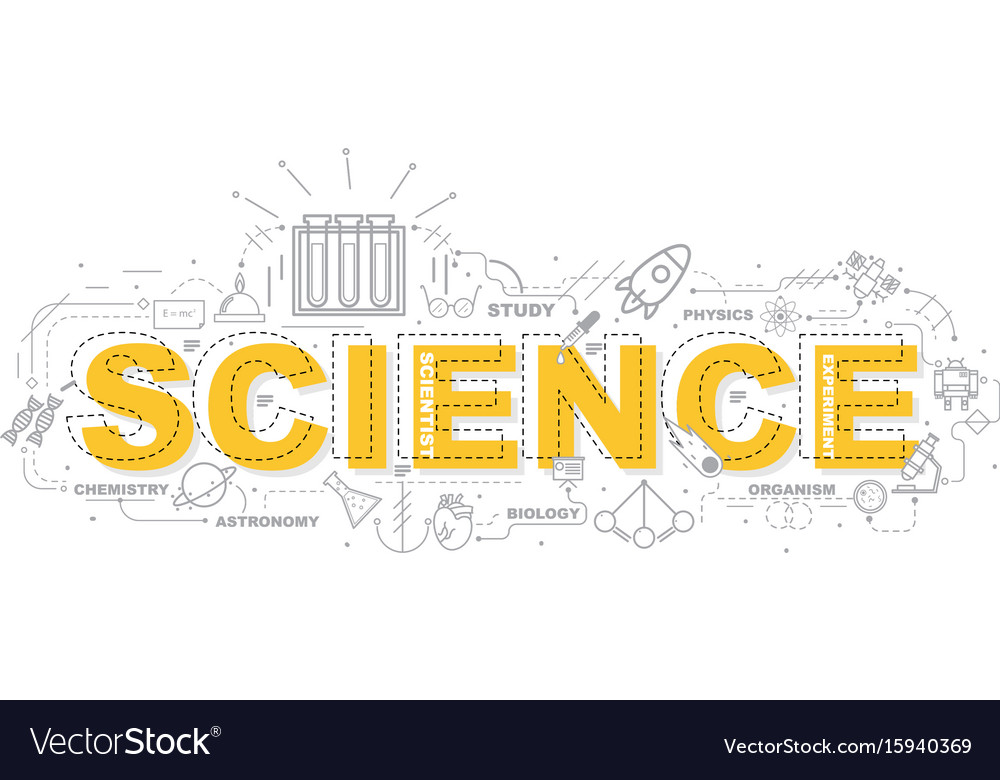 Design concept of word science website banner vector image