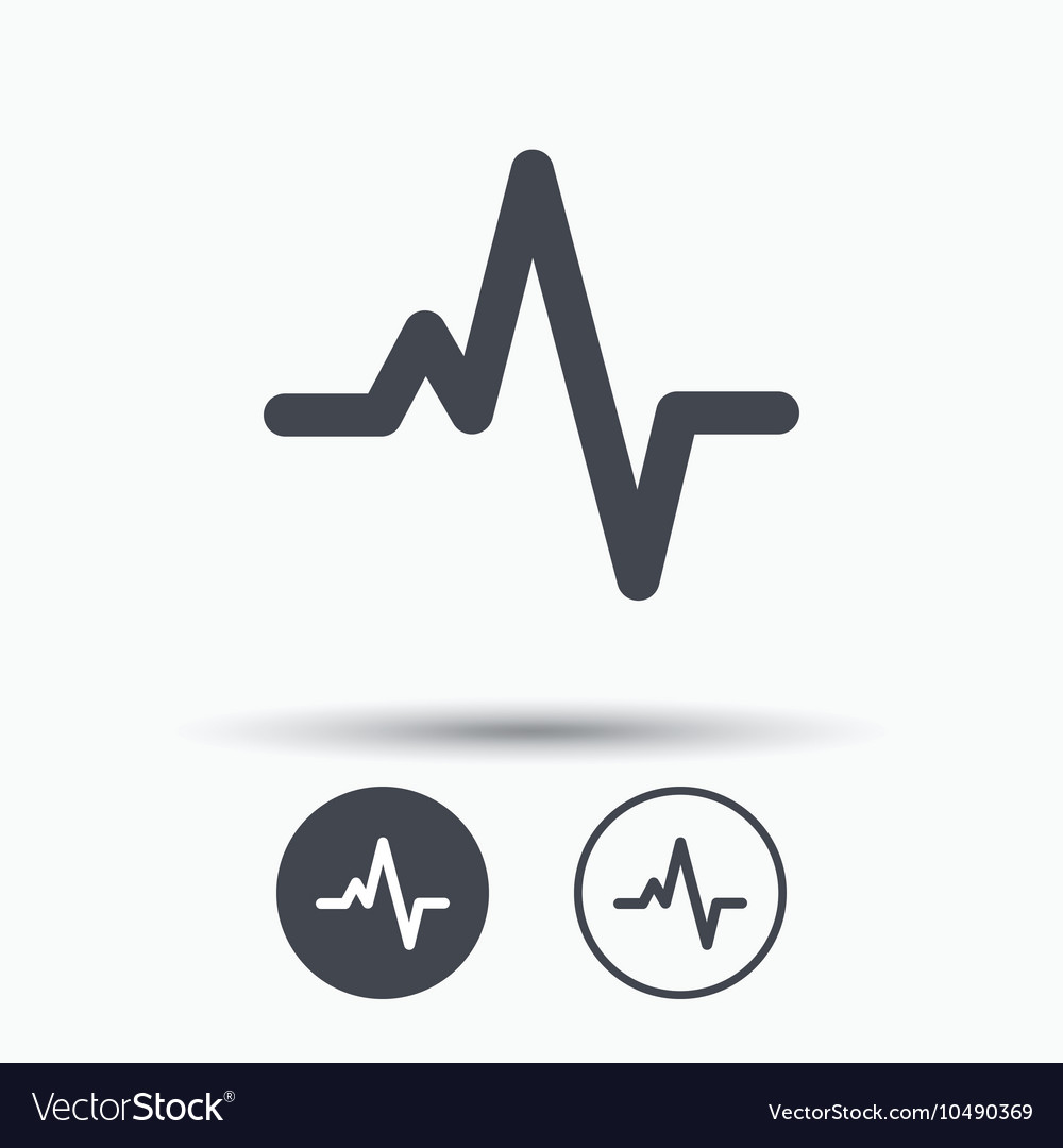 Heartbeat icon Cardiology symbol vector image