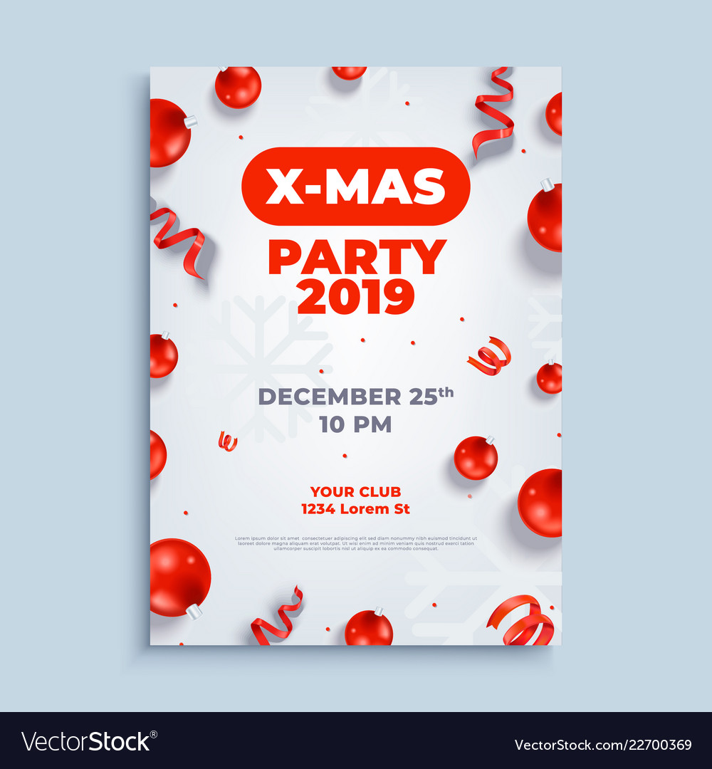 Merry christmas party layout poster poster or