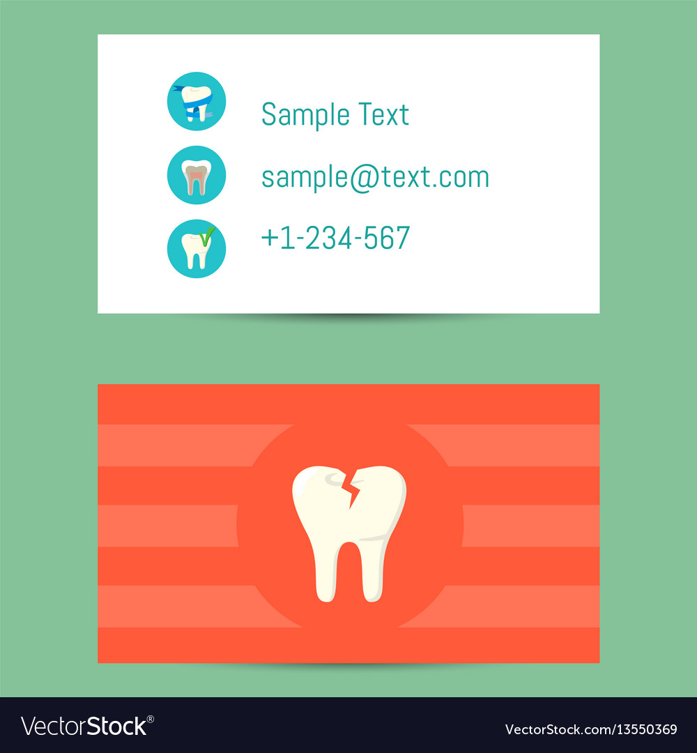 Professional business card for dentists