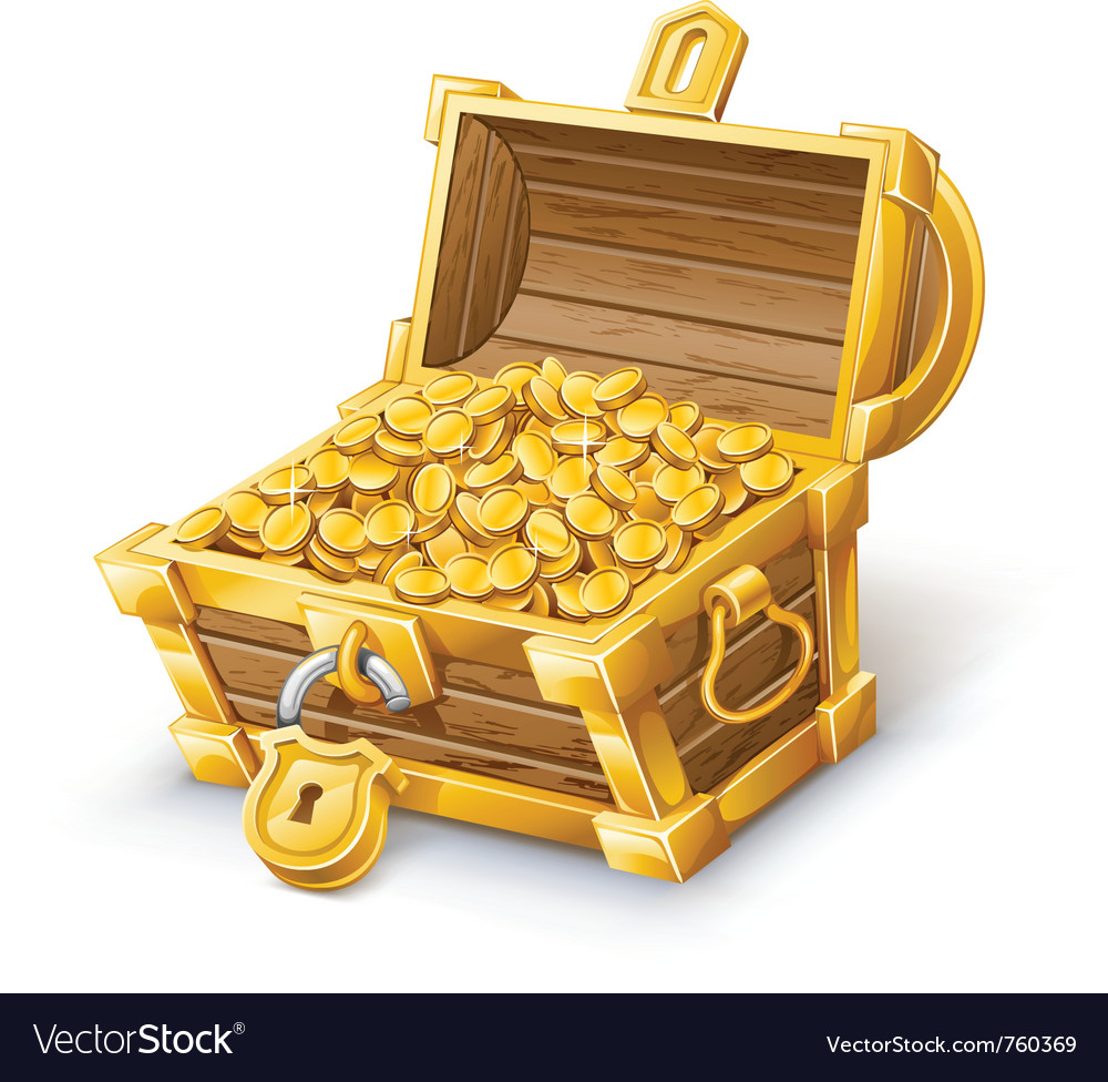 treasure chest royalty free vector image vectorstock rh vectorstock com treasure chest vector png treasure chest vector free