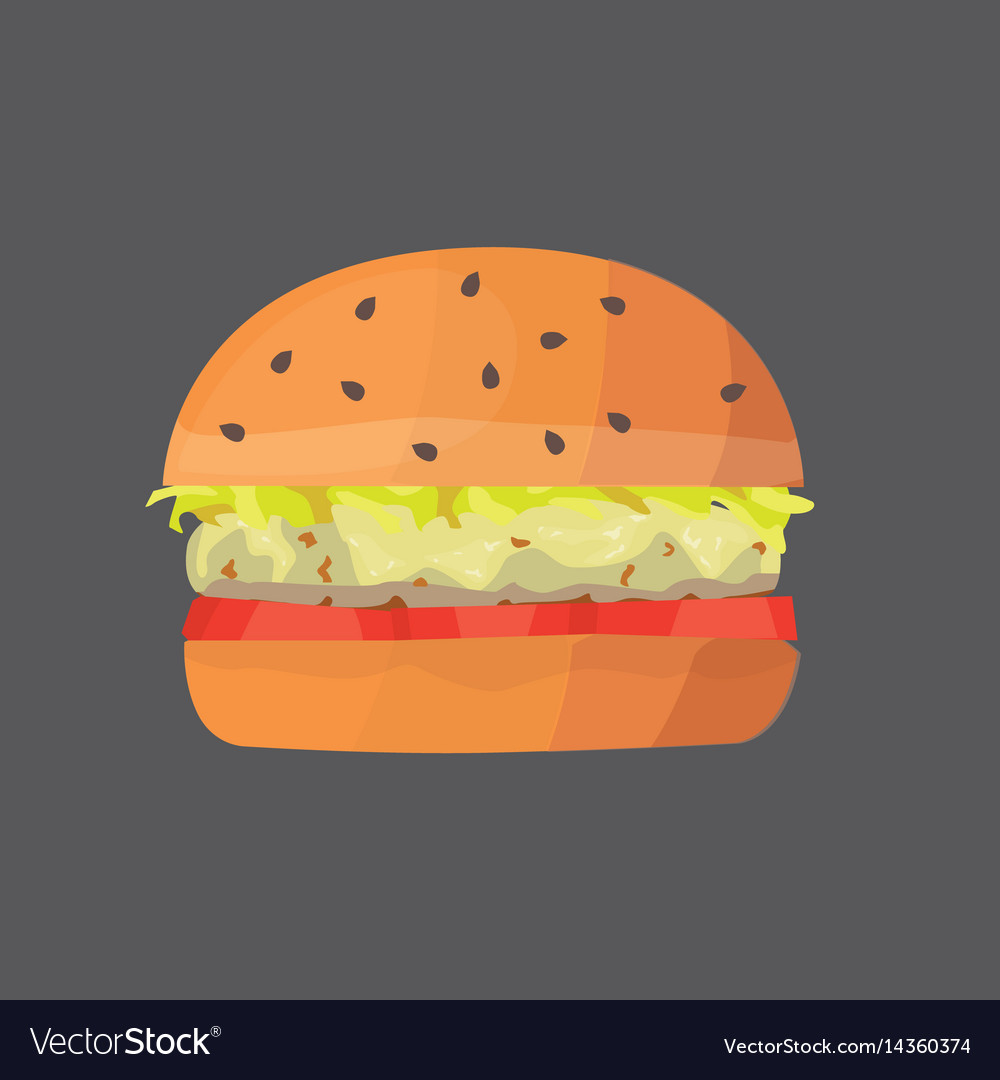 Burger cartoon fast food cheeseburger or