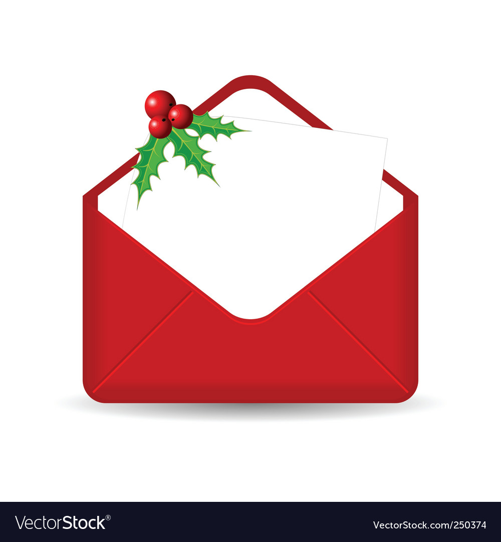 Christmas mail Royalty Free Vector Image - VectorStock