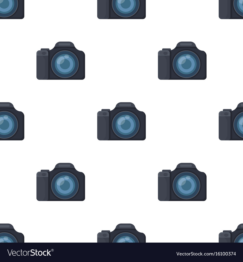 Digital camera icon in cartoon style isolated on