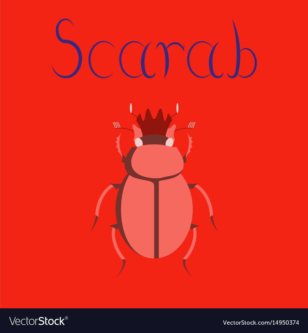 Flat on background bug scarab