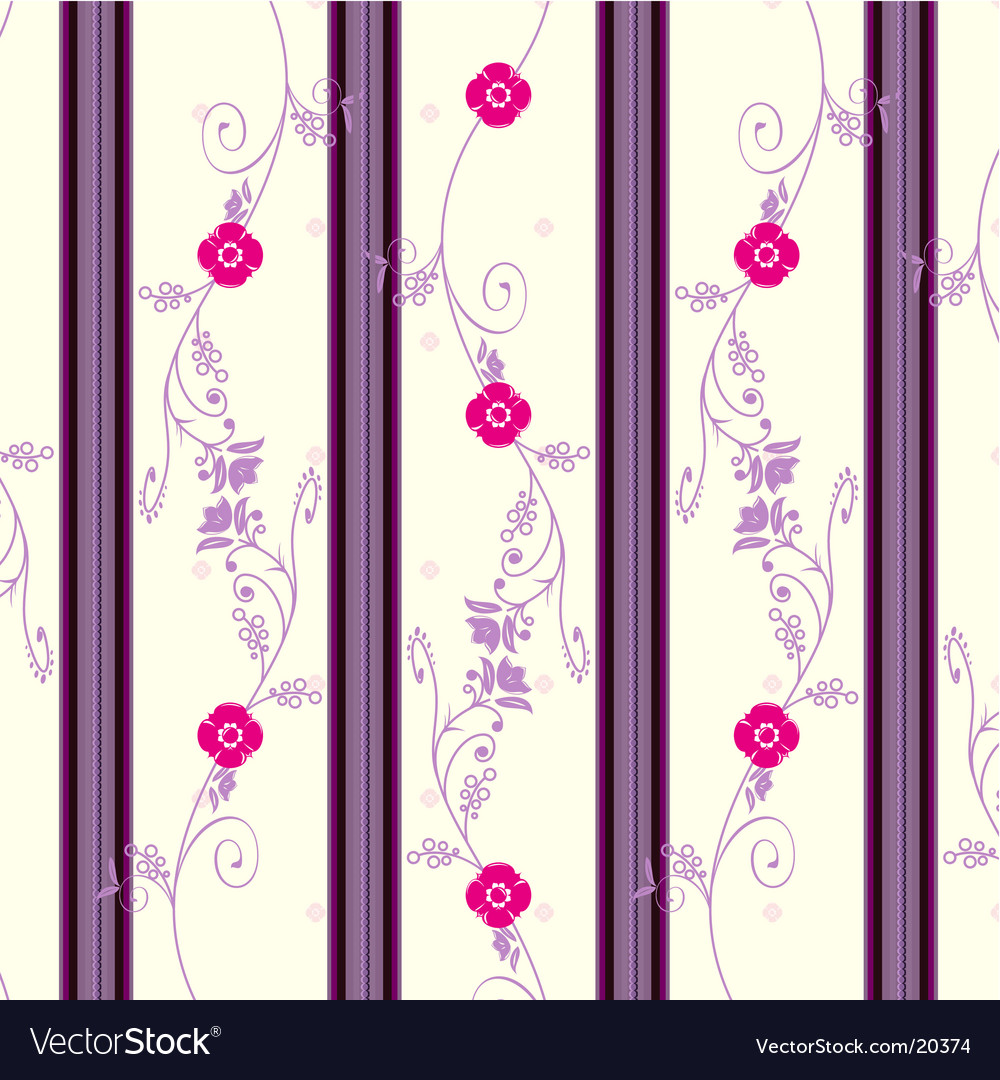 Floral Vintage Wallpaper Royalty Free Vector Image