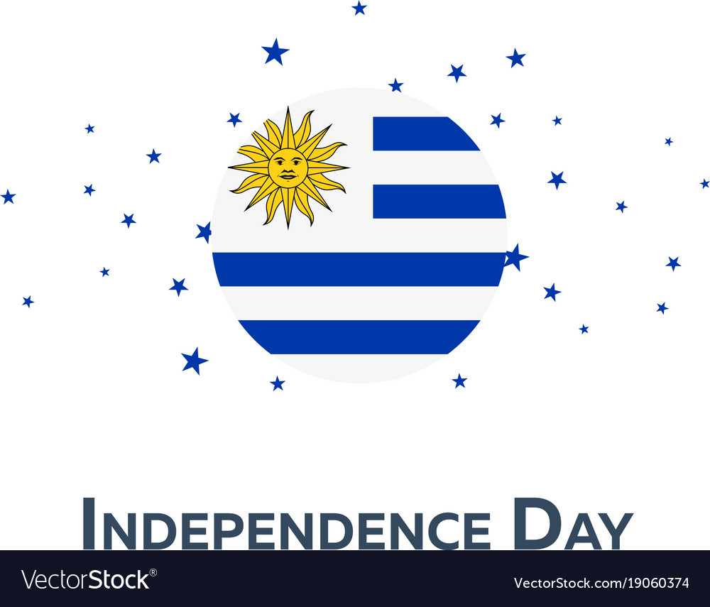Independence day of uruguay patriotic banner vector image
