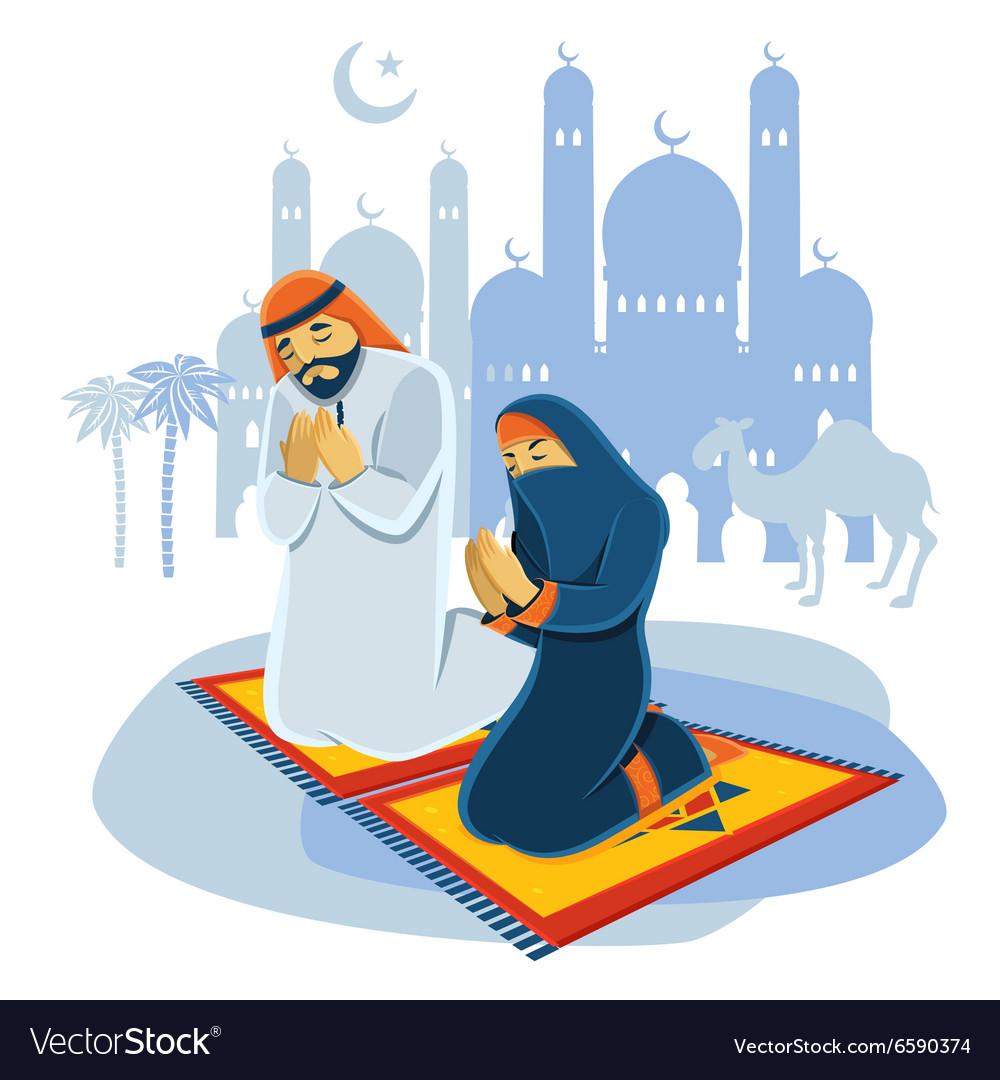 Praying Muslim Concept