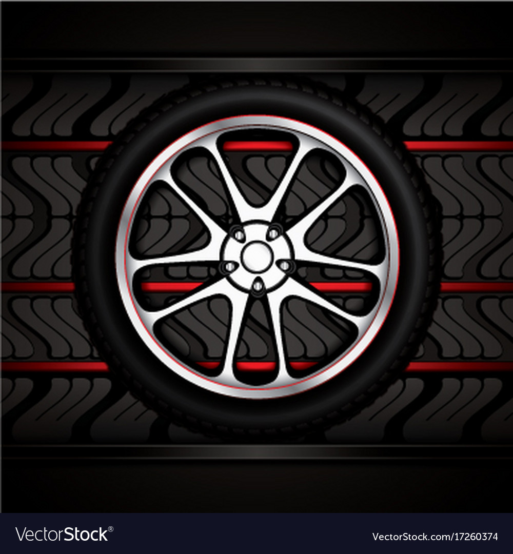 Racing car wheel vector image