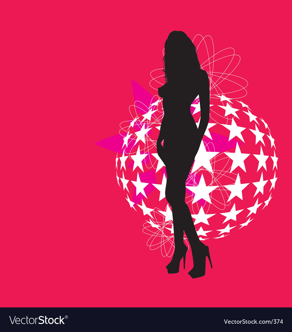 Sexy silhouette vector image