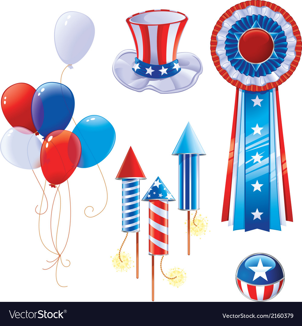 Fourth Of July Symbols Royalty Free Vector Image