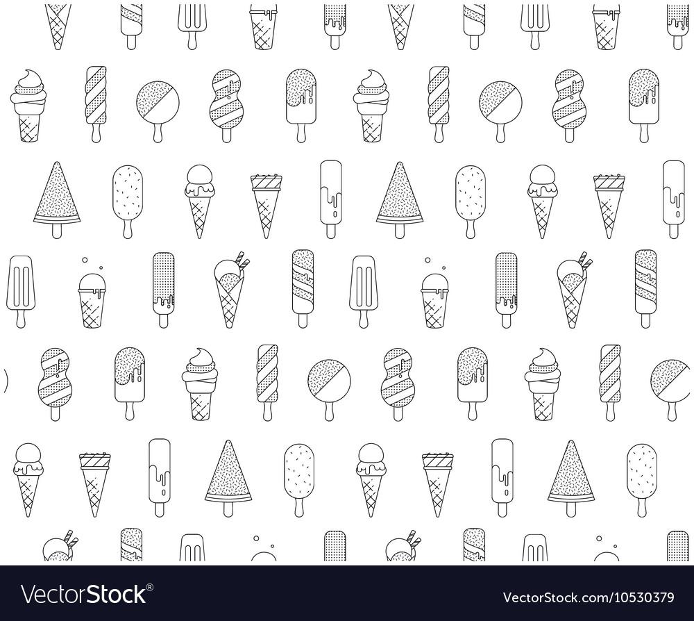 Pattern Memphis Ice Cream