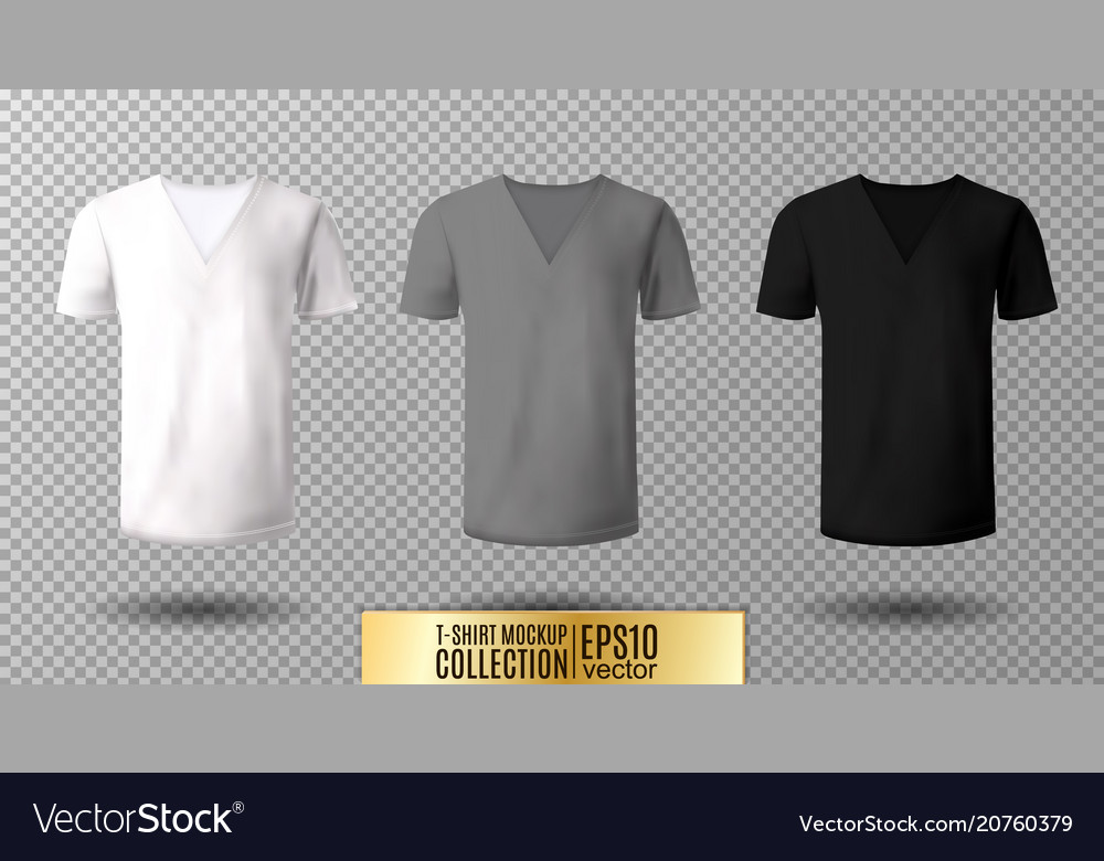 realistic v neck t shirt mock up royalty free vector image