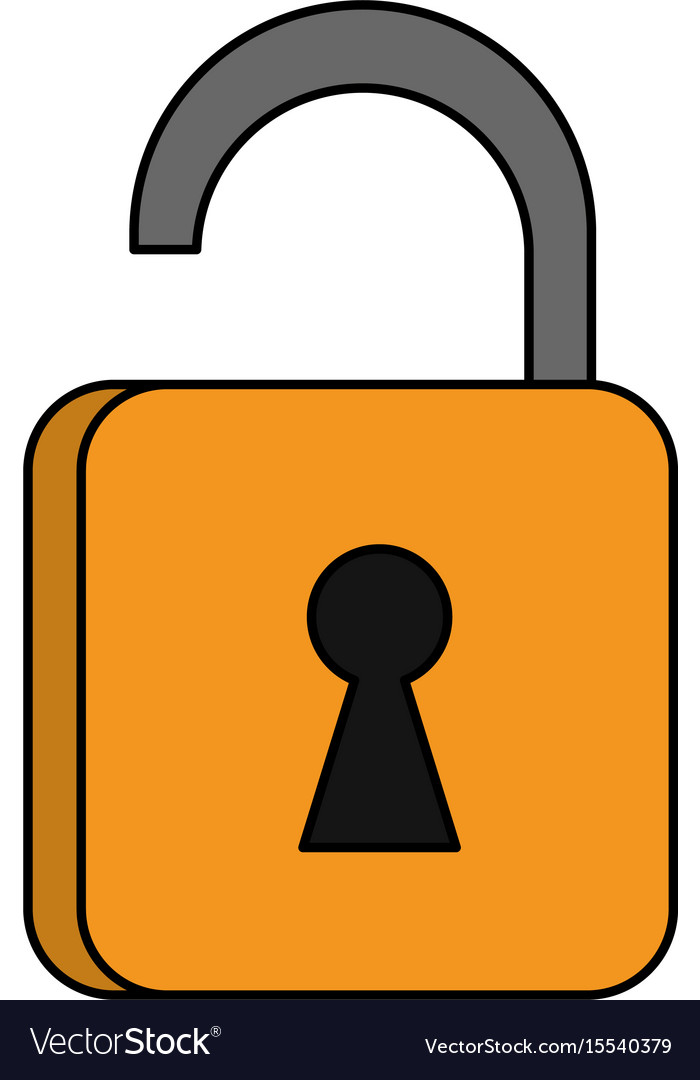 safety key lock royalty free vector image vectorstock rh vectorstock com padlock vector free download padlock vector image