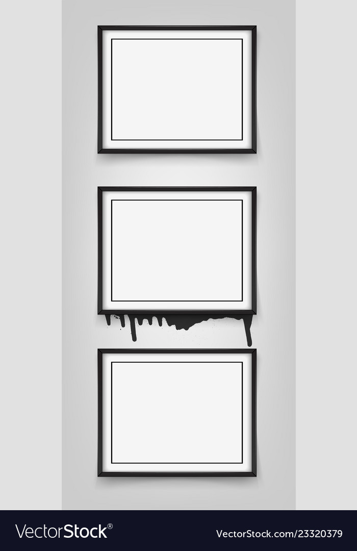 Set of black frames on white background with