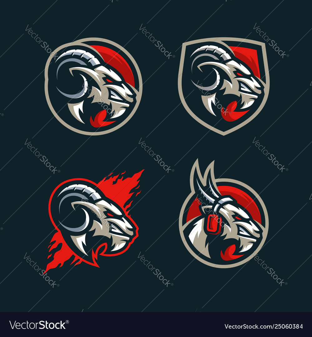 Abstract goat concept design template