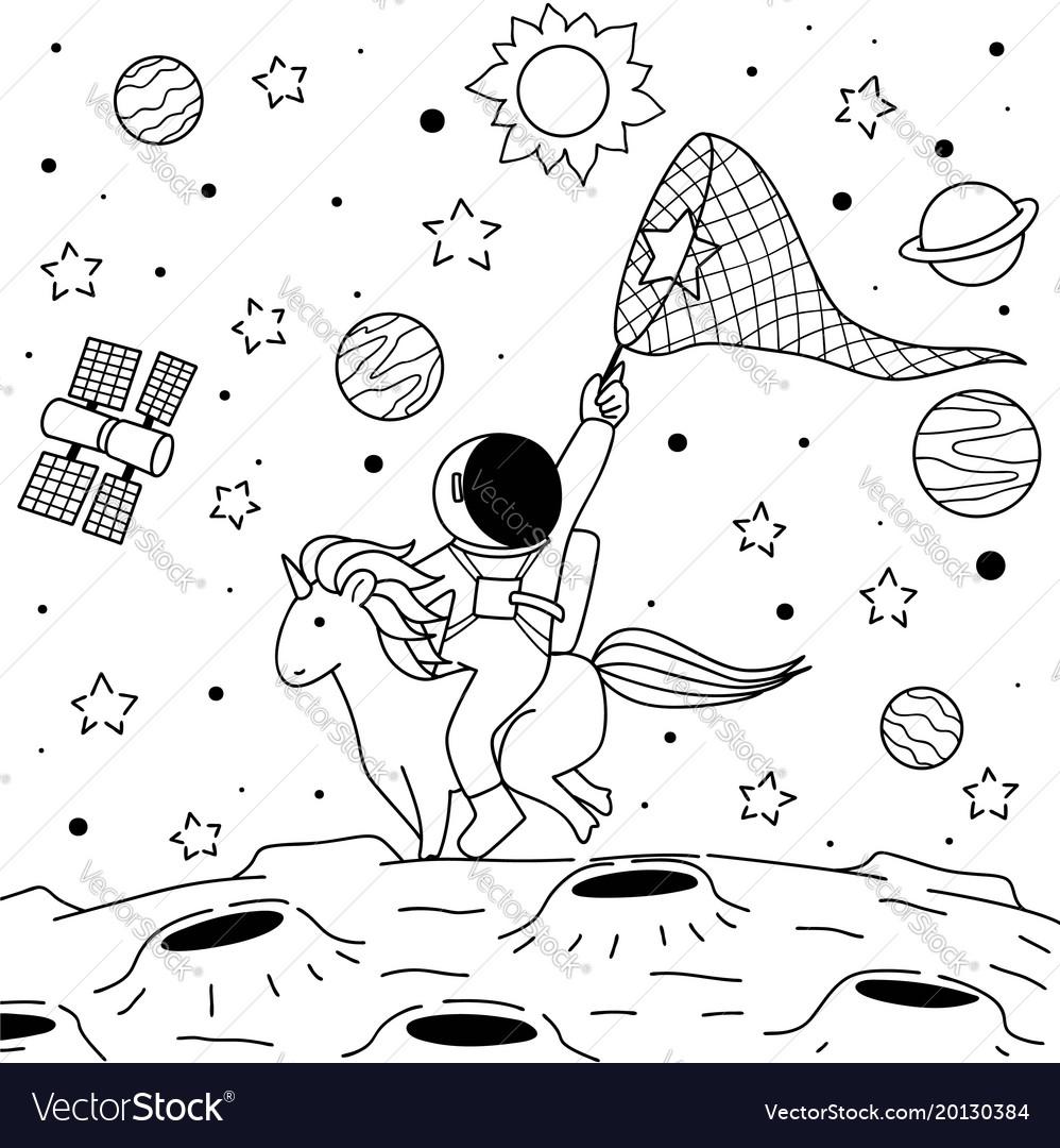 Astronaut ride unicorn