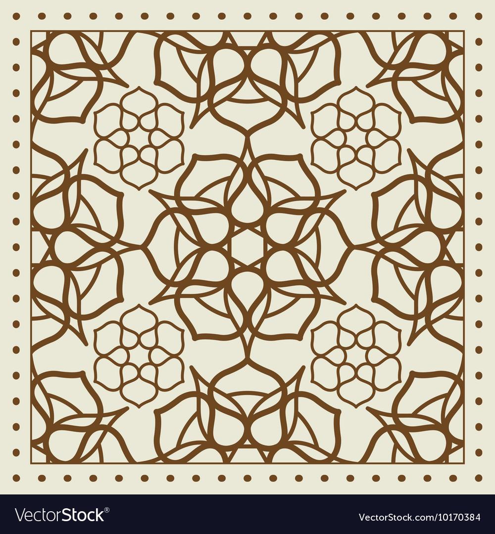 Beige scarf with geometric pattern design