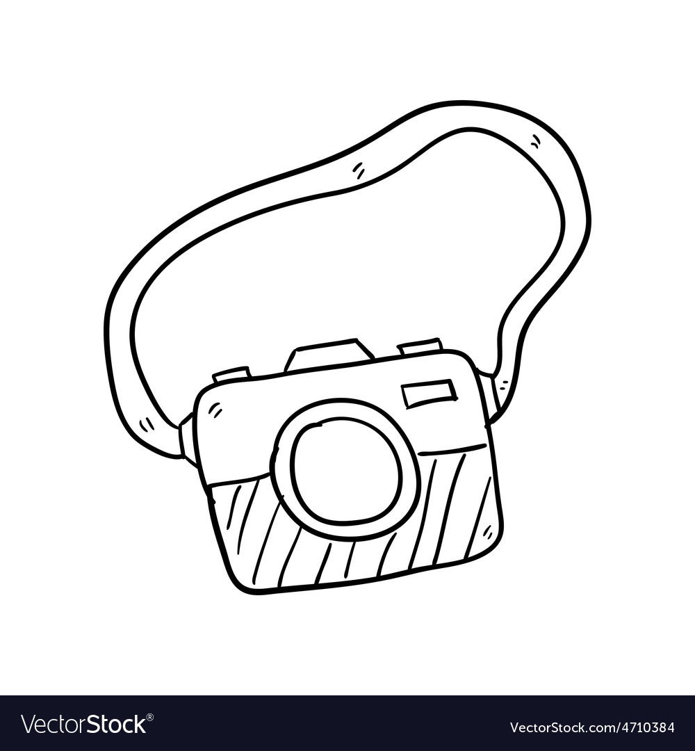 Camera Hand Drawn Royalty Free Vector Image Vectorstock