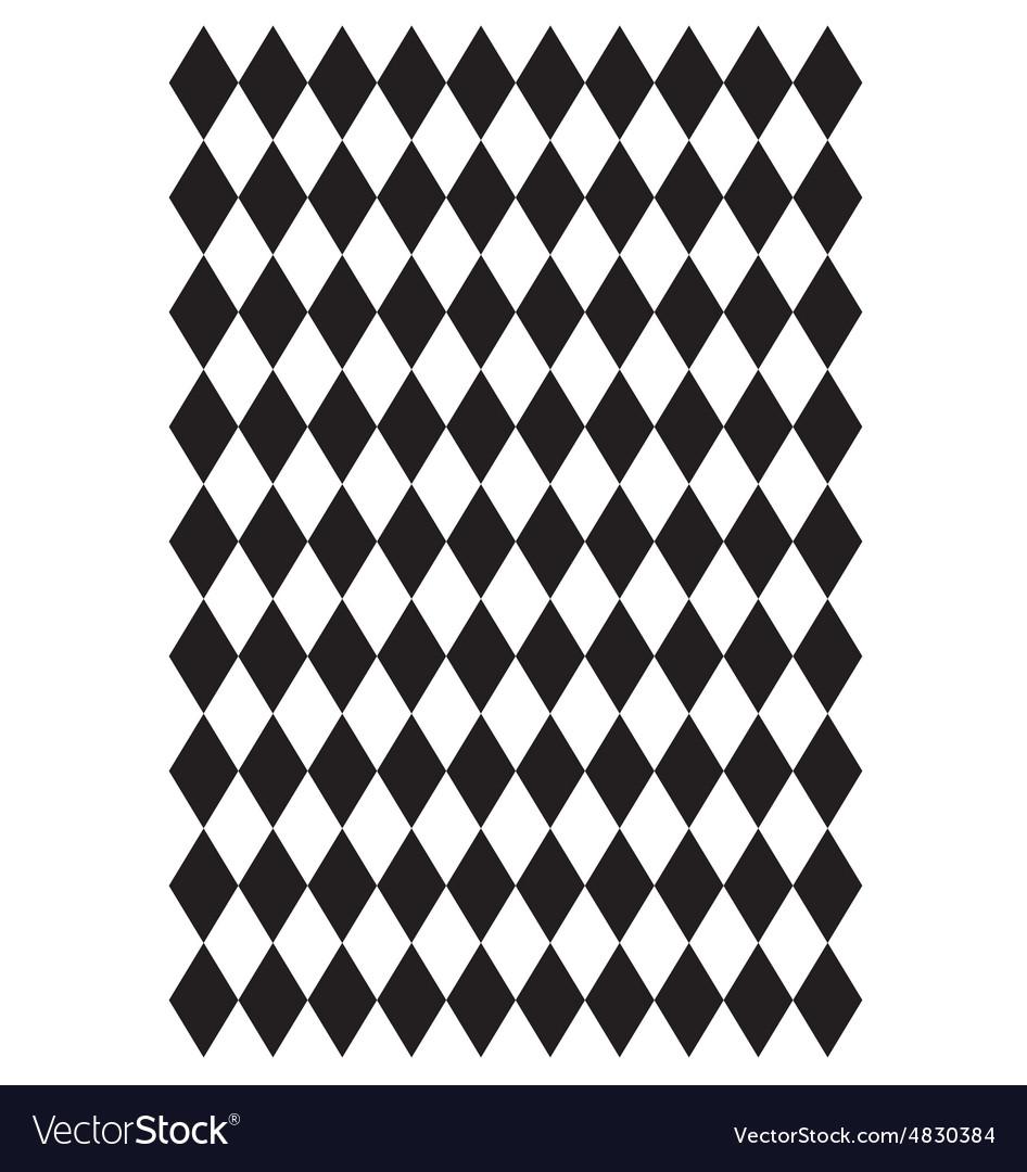 Diamond block pattern vector image