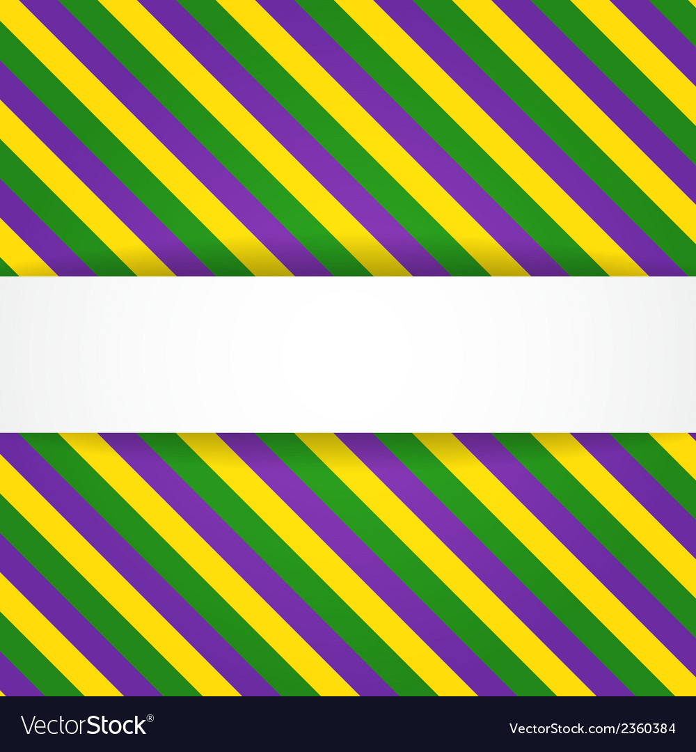Mardi gras background with banner vector image