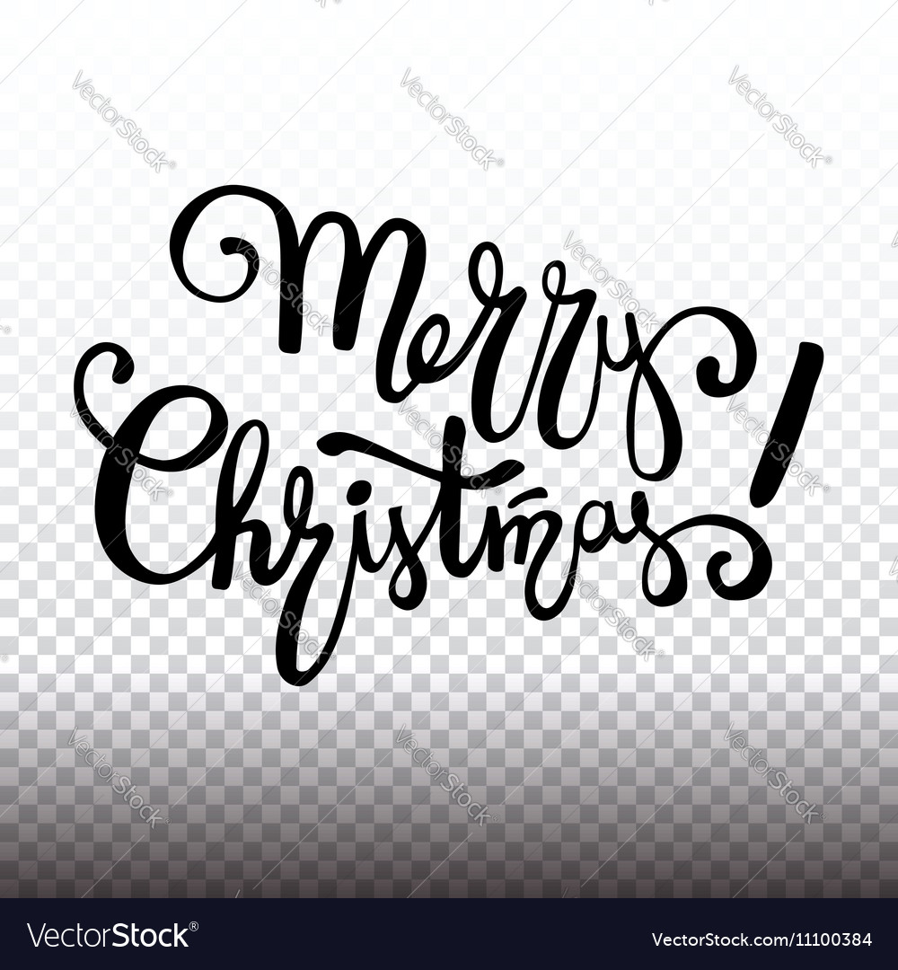 Merry Christmas lettering design handwriting text