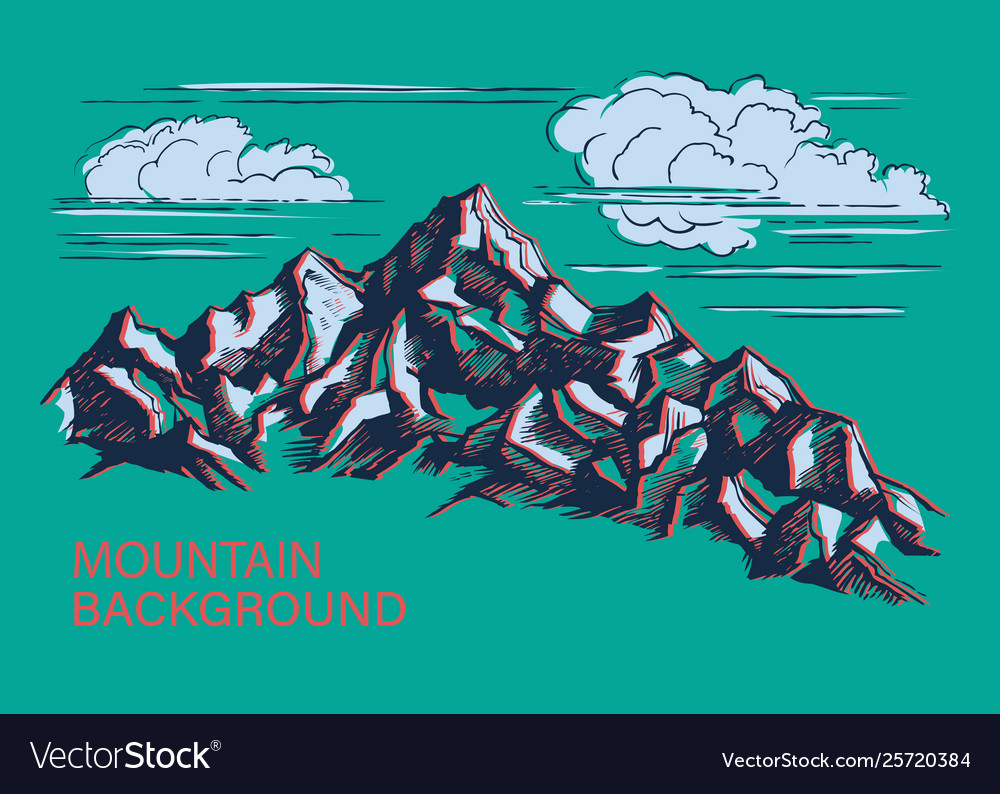 Mountains hand-drawn