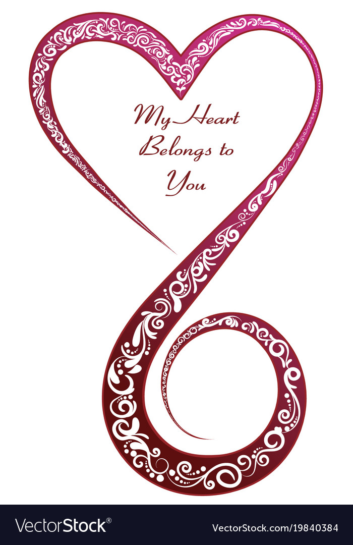 My heart belongs to you vector image