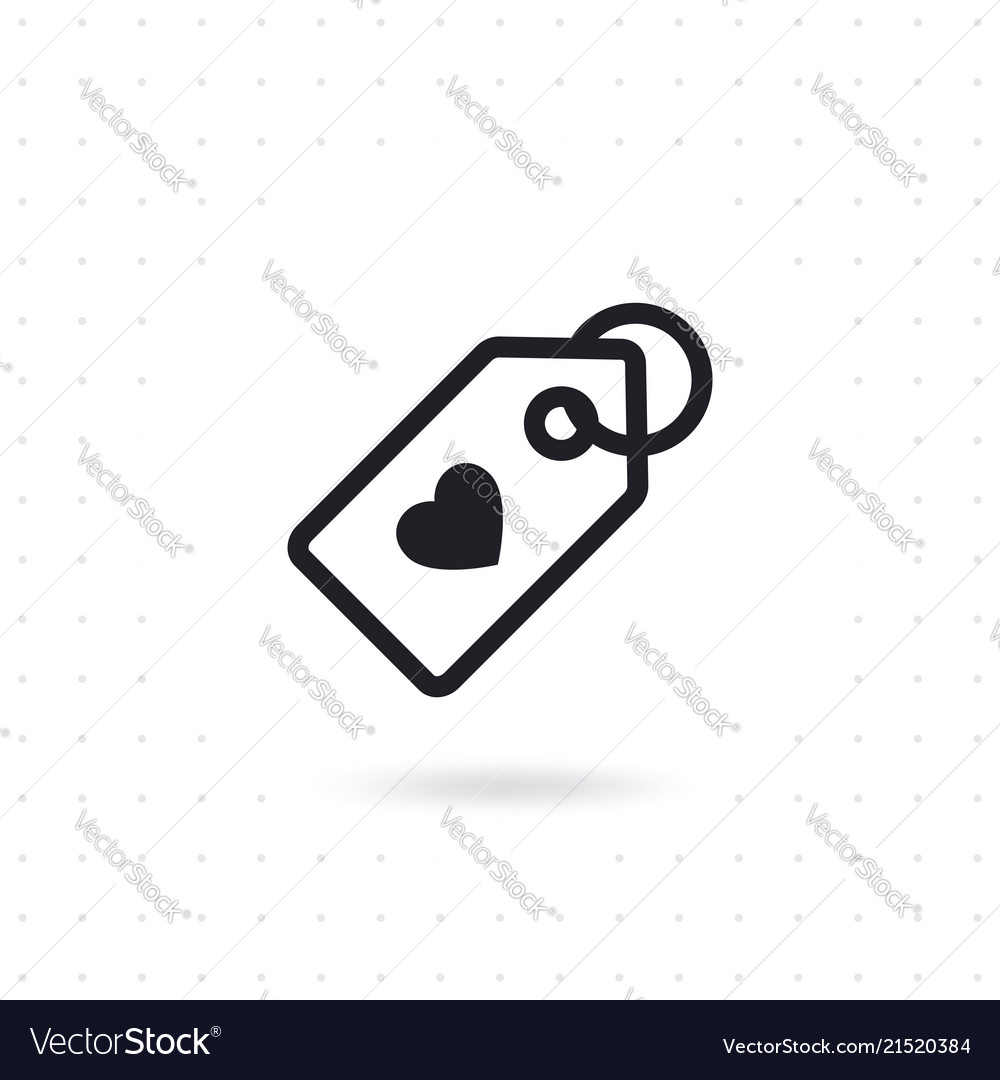 Price Tag With Heart Symbol Royalty Free Vector Image