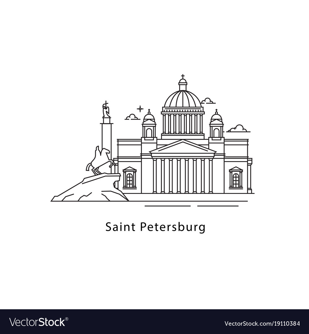 Saint petersburg logo isolated on white background