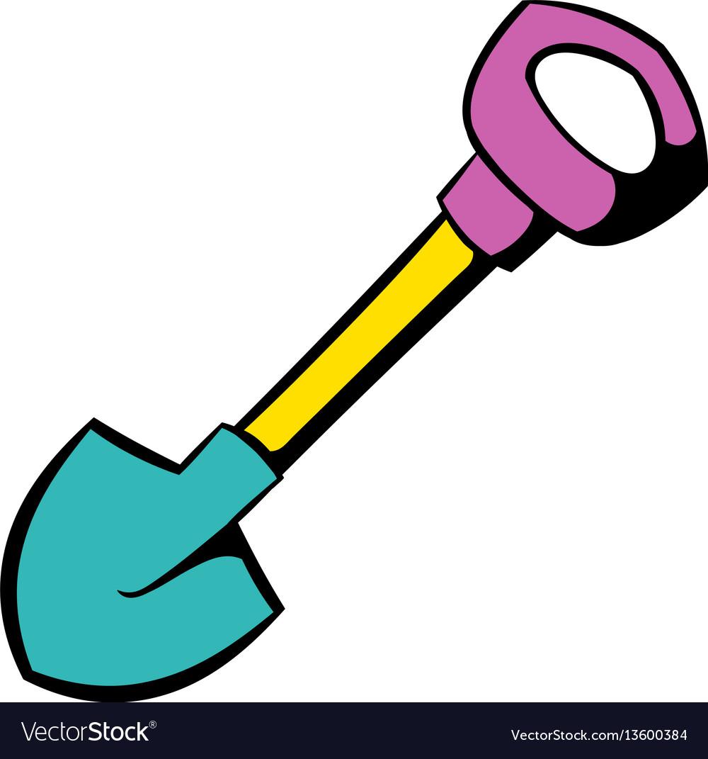 Shovel icon icon cartoon vector image