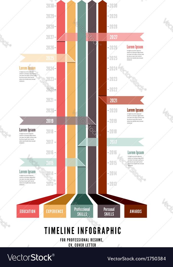 Timeline Web Element Template vector image