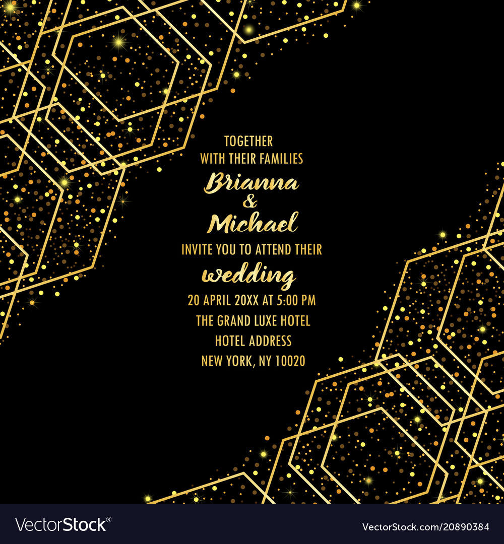 Wedding luxury invitation card