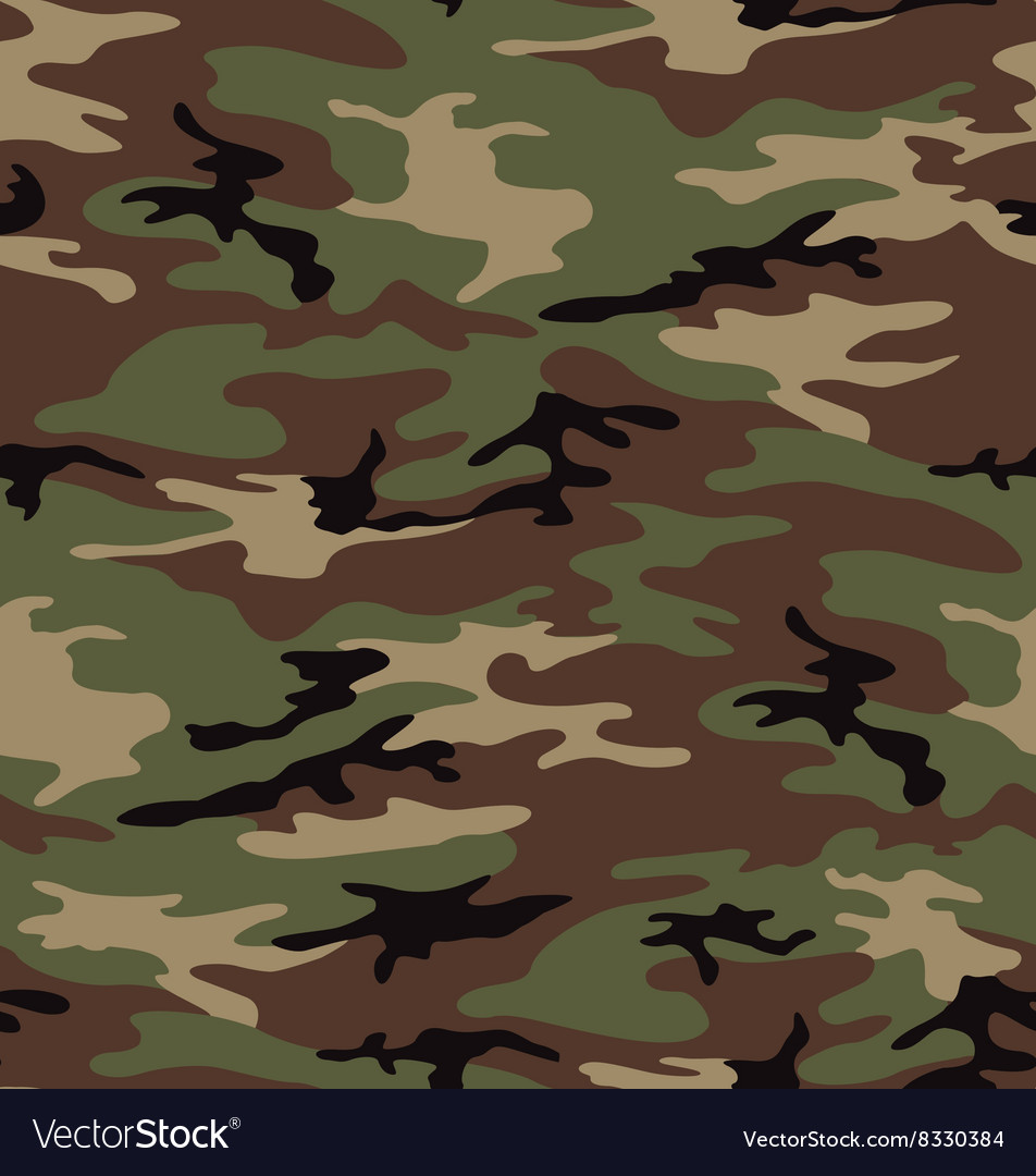 Woodland army camouflage seamless pattern