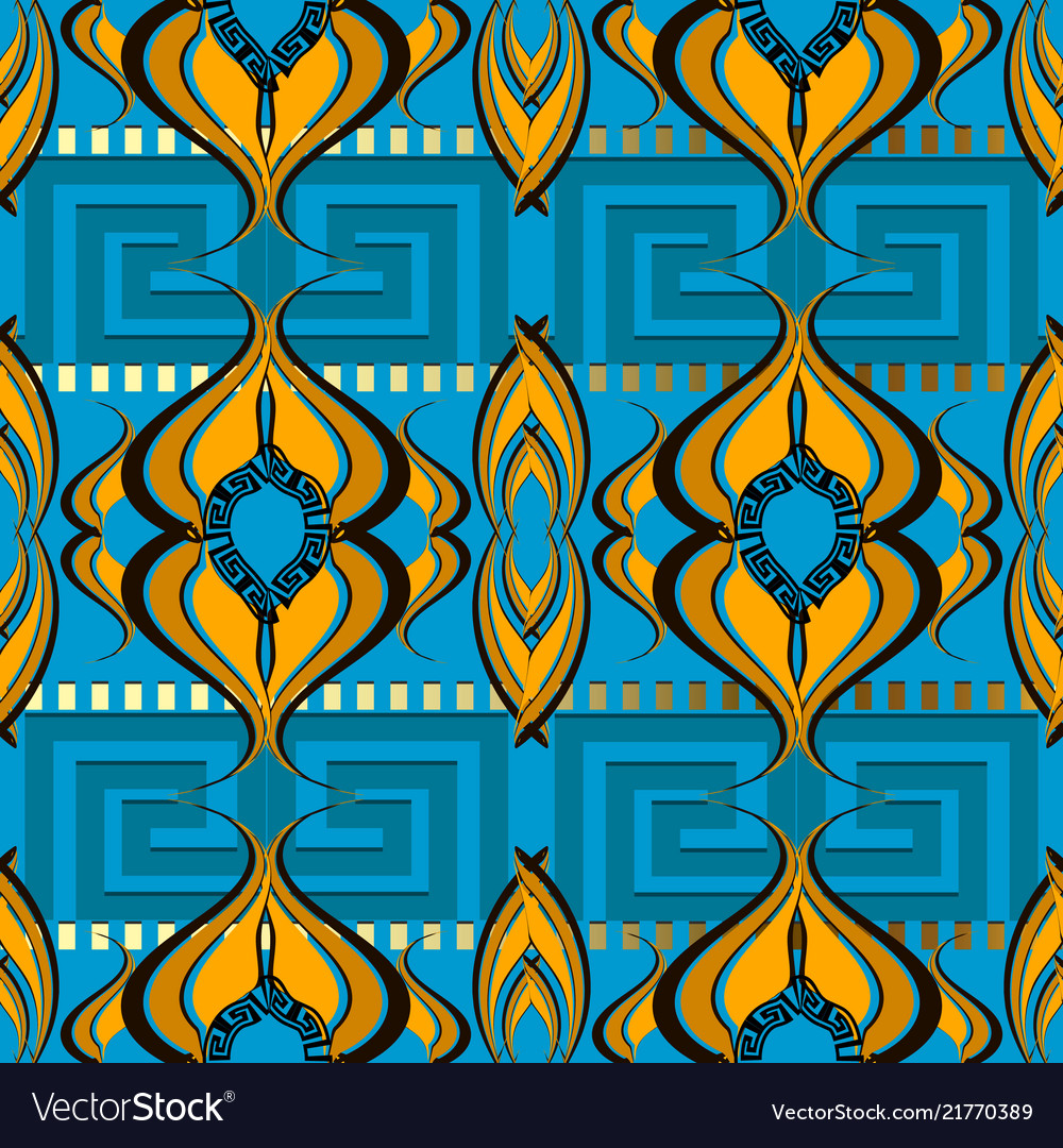 Abstract ornamental greek seamless border