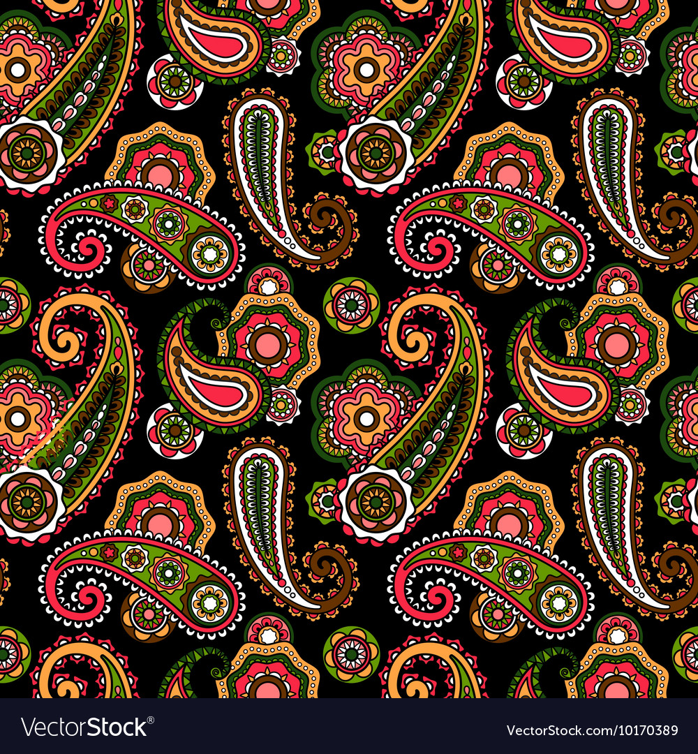Arabic pattern with paisley