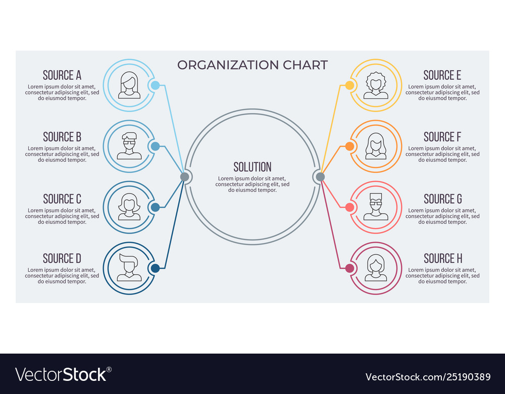 Business infographic circular chart with 8