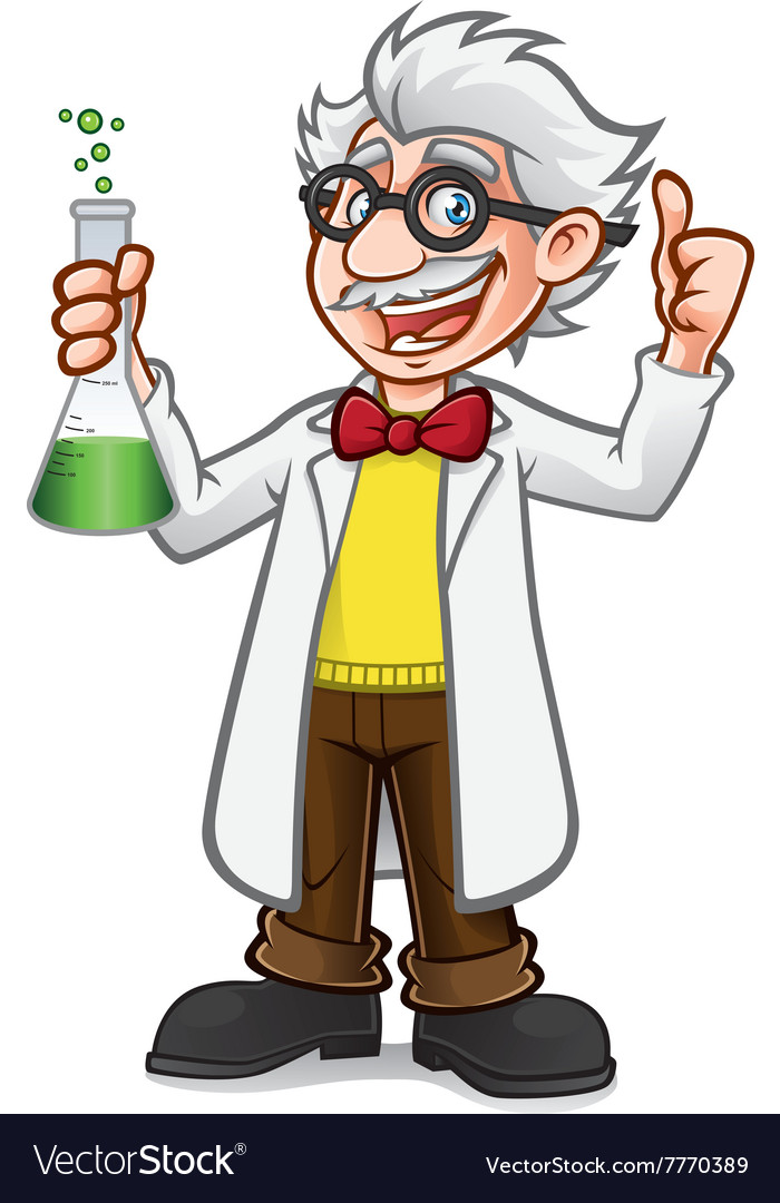 Cartoon Professor Thumb Up