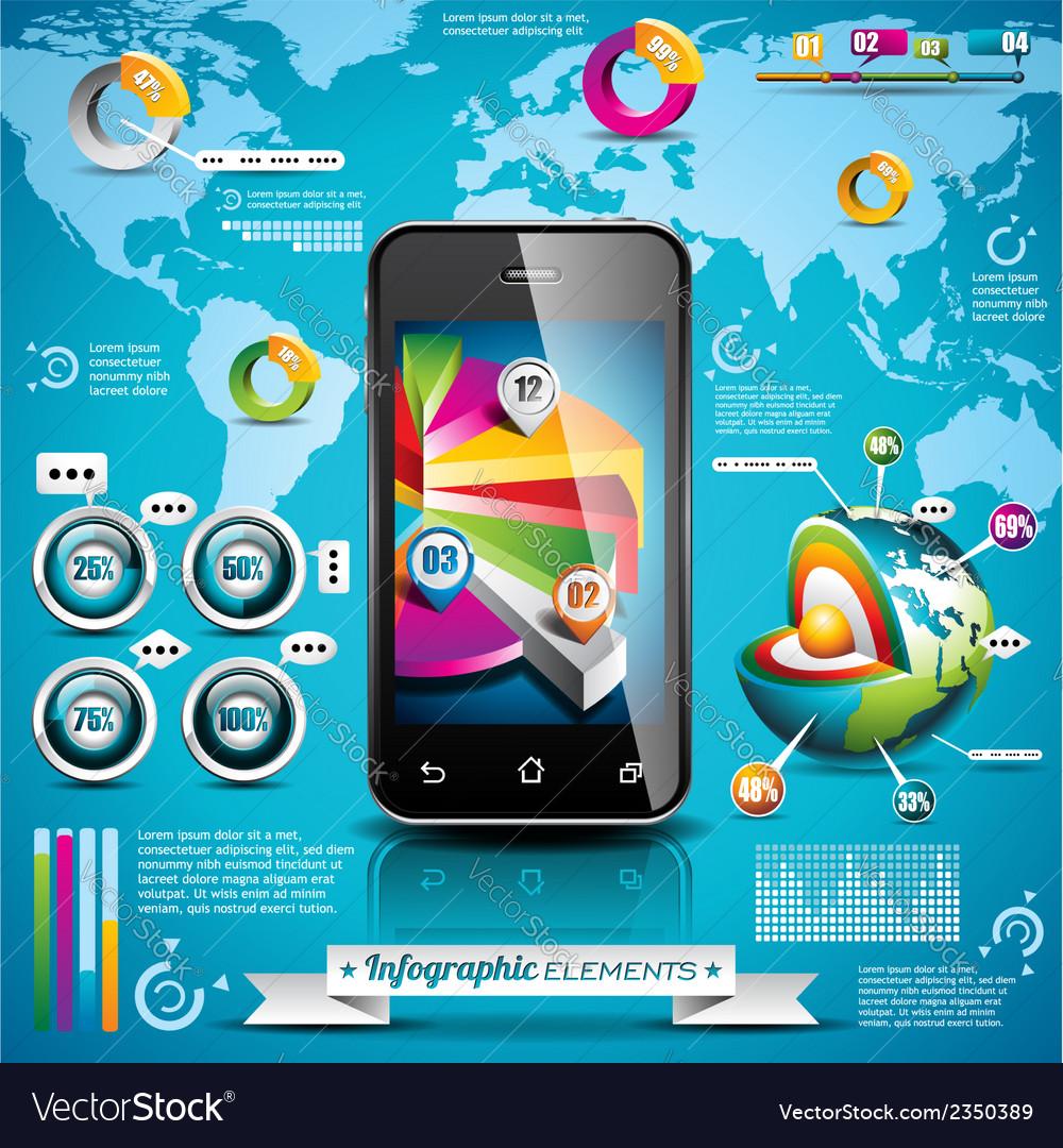 Design set of infographic elements